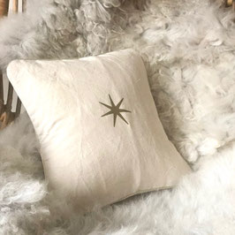 "Coussin ""Astre"", lin naturel"