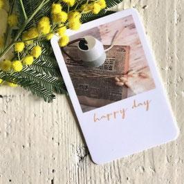 Mini carte HAPPY DAY