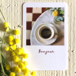 Mini carte BONJOUR