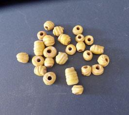 25 gelbe Perlen