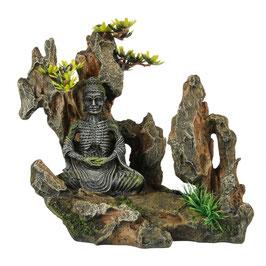 Buddha auf einem Felsen 20,2x11,3x18cm
