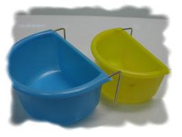 Futter/Wassernapf Oval verschiedene FarbenD 7,5 cm-  gelb D- 6,5cm