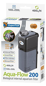 Superfish Aquarien Innenfilter Aquaflow 200 (200-400 l/h)