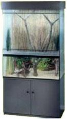 Paludarium Aqua-Terrarium mit 40cm hohem Wasserteil, 2 Bodenbohrungen