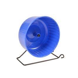Hamsterrad mit Ständer Blau/grau 14x7cm