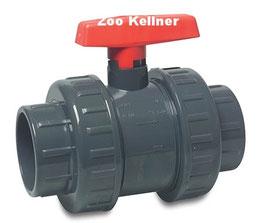 PVC Kugelhahn 16 mm beidseitig Klebemuffe