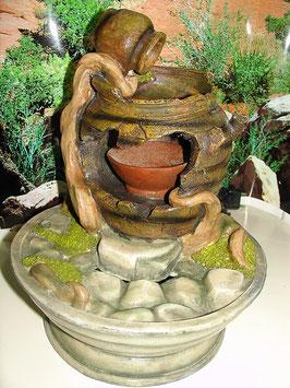 Amphore mit Schale Springbrunnen Zimmerbrunnen Zierbrunnen Brunnen mit Pumpe 5 W 120-240l einstellbar
