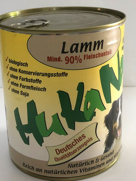 Hukana Lamm 410g Mind. 90% Fleischanteil