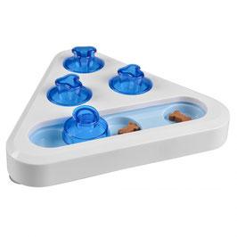 Snack puzzle - dreieck weiss/blau 24x24x5,5cm