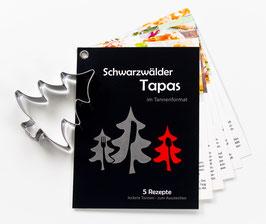 Schwarzwälder Tapas-Tannen Rezeptheft mit Ausstecher