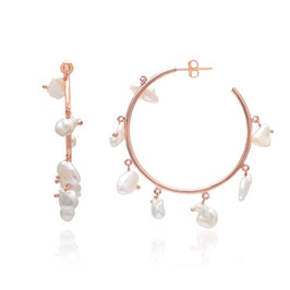 Ohrringe Perlen Kreolen