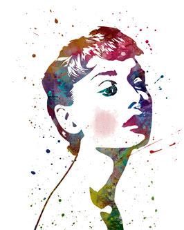 Audrey Hepburn II weiß