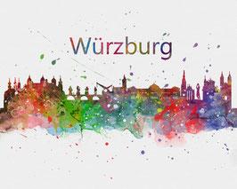 Würzburg-Art Print-Postcards
