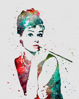 Audrey Hepburn I grau