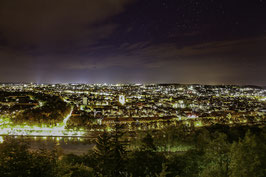 Würzburg bei Nacht (Panoramablick)
