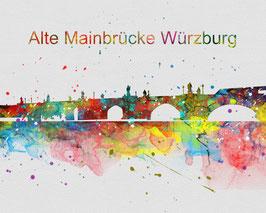 Würzburg Alte Mainbrücke Art Print