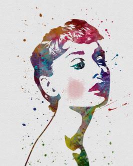 Audrey Hepburn II grau