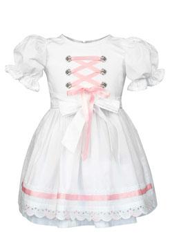"""Mädchen Dirndl, Trachten Kleid """"Laura"""" aus Bio-Baumwolle für die Taufe,Hochzeiten oder anderen Anlässen."""