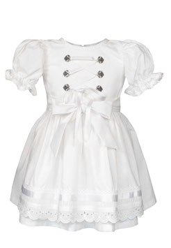 """Mädchen Dirndl, Trachten Kleid """"Marlene """"aus Bio-Baumwolle für die Taufe,Hochzeiten oder anderen Anlässen."""