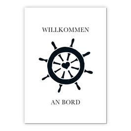 Print - Willkommen an Bord