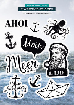 Stickerbogen Maritim