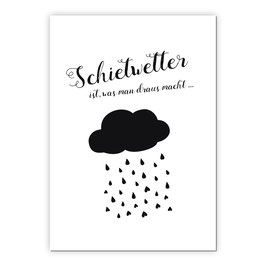 Print - Schietwetter