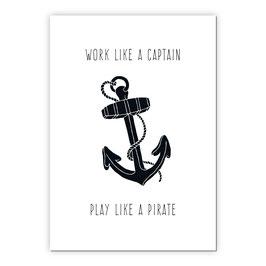Print - Work like a captain