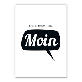 Print - Morgens, mittags, abends Moin