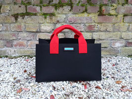 Einkaufskorb schwarz rot (Korpus 5001/Henkel 5019/Seiten 5019)