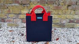 Aktentasche aus Filz blau rot (K5026-H5019-S5019)2H