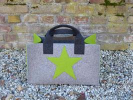 Einkaufskorb mit Stern (Korpus 4002/Henkel 8002/Seiten5033Stern 5033)