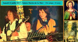 Places pour le concert du 22 juillet aux Saintes Maries de la Mer