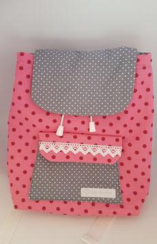 Rucksack Dots pink