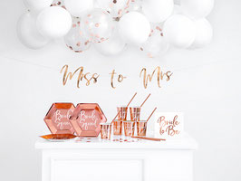 Mini Deko Paket Bride to be Rosegold