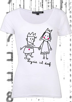 LYCIA IST DOOF! (Women's Slim Fit Jersey T-Shirt weiß)