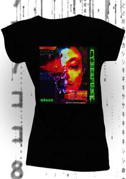 CHRISTIAN DÖRGE - CYBERPUNK (Women's Slim Fit Jersey T-Shirt schwarz)