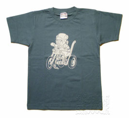 Trike Bear Tee/トライクベア デニムTシャツ