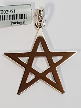 Estrela 5 Pontas Prata - Pentagrama - PP