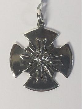 Cruz dos Templários em Prata com Resplendor e Espirito Santo - PP