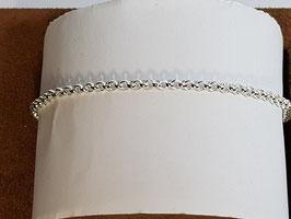 Pulseira prata cordão maciço  060 - PP