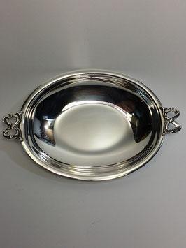 Taça Lisa Oval em Prata com Laços - FM