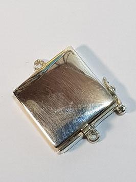 Fecho Colar Prata Caixa Quadrada - FE00112