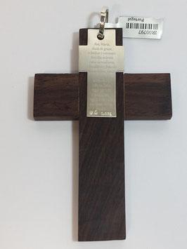 Cruz de Berço Madeira e Prata - Top 34-82037