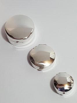 Caixa redonda em prata - PP