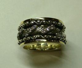 Aliança de Prata e Ouro - ANH1324