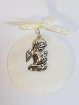 Anjo de Berço em Prata  em Medalha Concha  - JCC