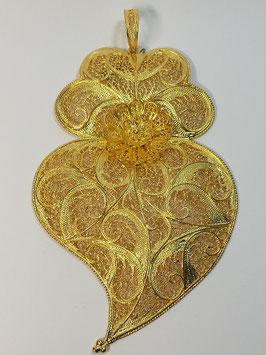 Coração de Viana de filigrana em prata dourada 110.75 - AN