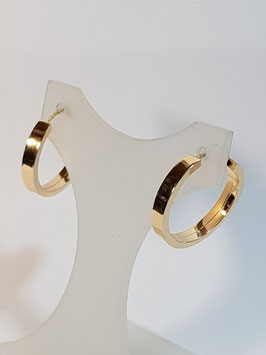 Brincos ouro argola redonda de fio chapa 19.3.1,5 -IGL