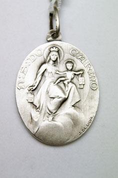 Medalha Escapulário - Nossa Senhora do Carmo e Sagrado Coração de Jesus - Escultor João da Silva