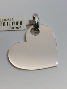 Coração Prata Chapa - Lado PP